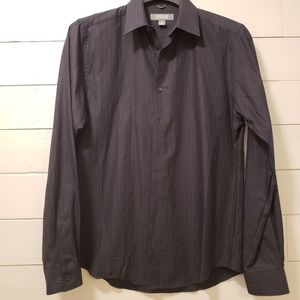 Kenneth Cole Reaction Black Button Down